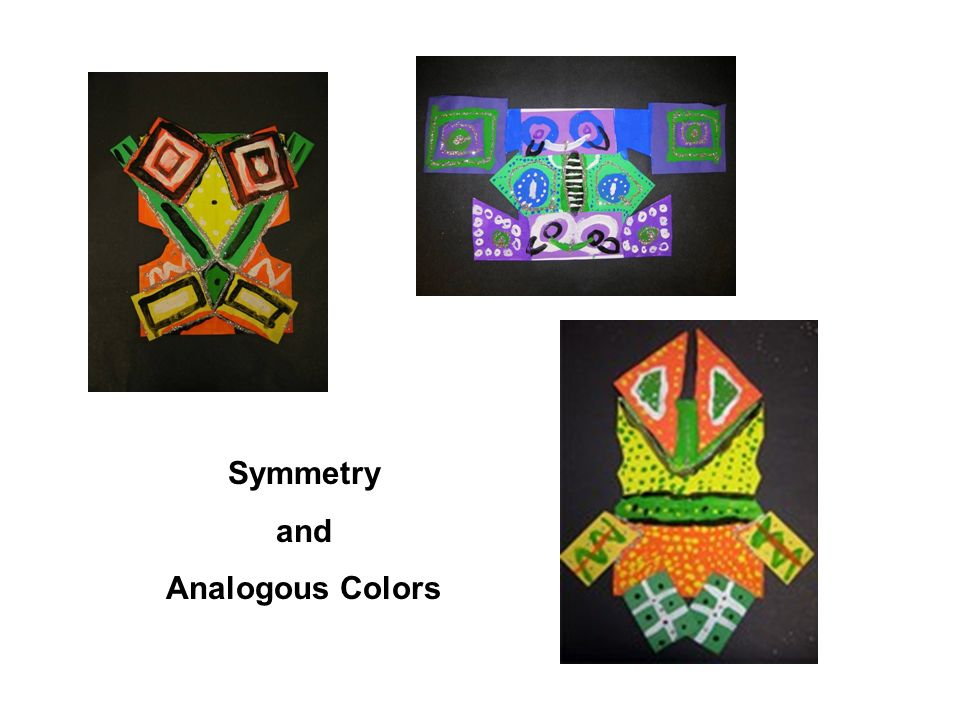 Symmetry and Analogous Colors