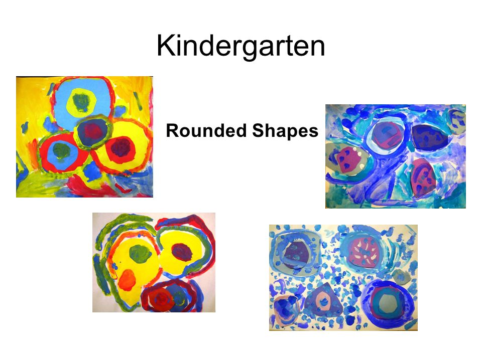 Kindergarten Rounded Shapes