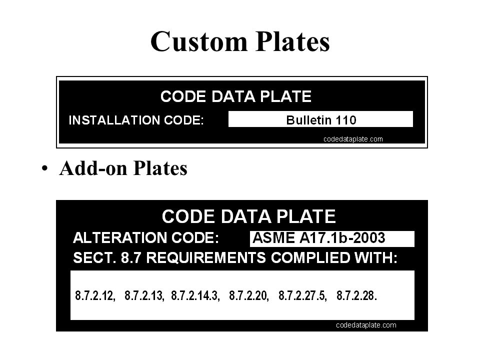 Custom Plates Add-on Plates