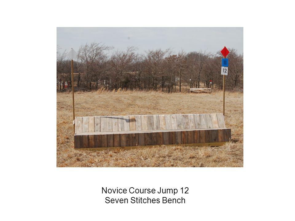 Novice Course Jump 12 Seven Stitches Bench