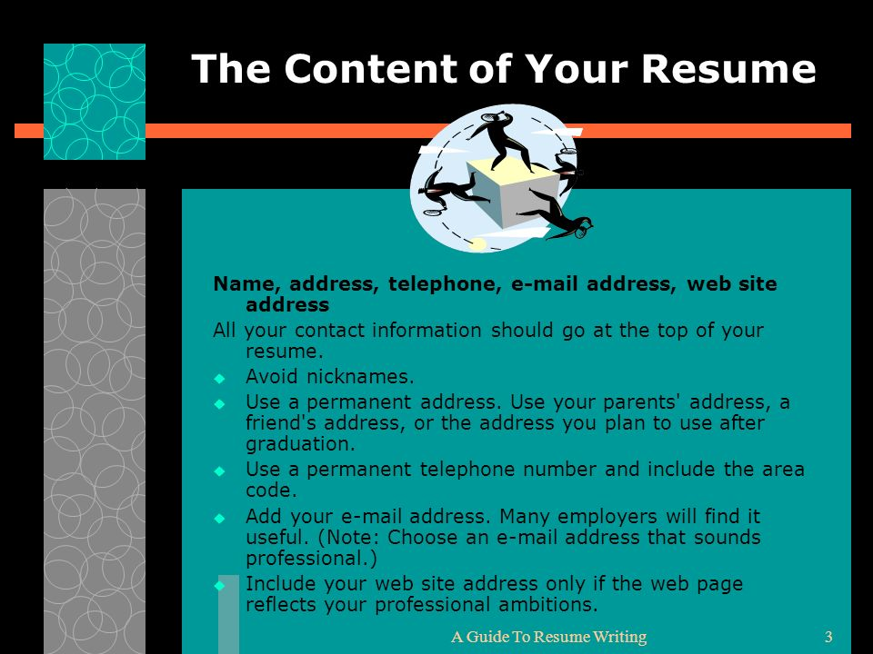 What Information Should Be In A Resume.