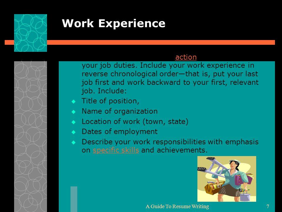 Characteristics Of A Successful Resume Focuses on skills.