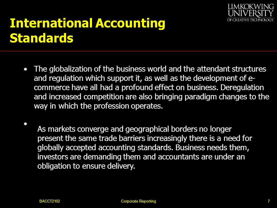 BACCT2102Corporate Reporting47 End of Topic 1 The End