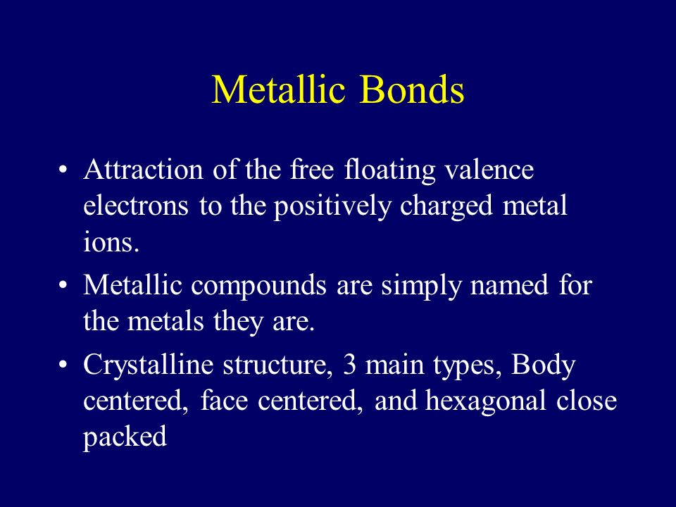 Properties of Ionic Compounds Crystalline structure at room temperature, which makes them brittle. High melting points Conduct electricity when melted