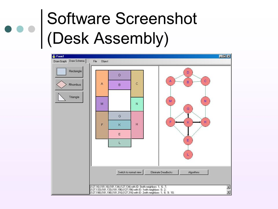 Software Screenshot (Desk Assembly)
