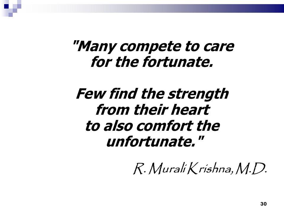 30 R. Murali Krishna, M.D.