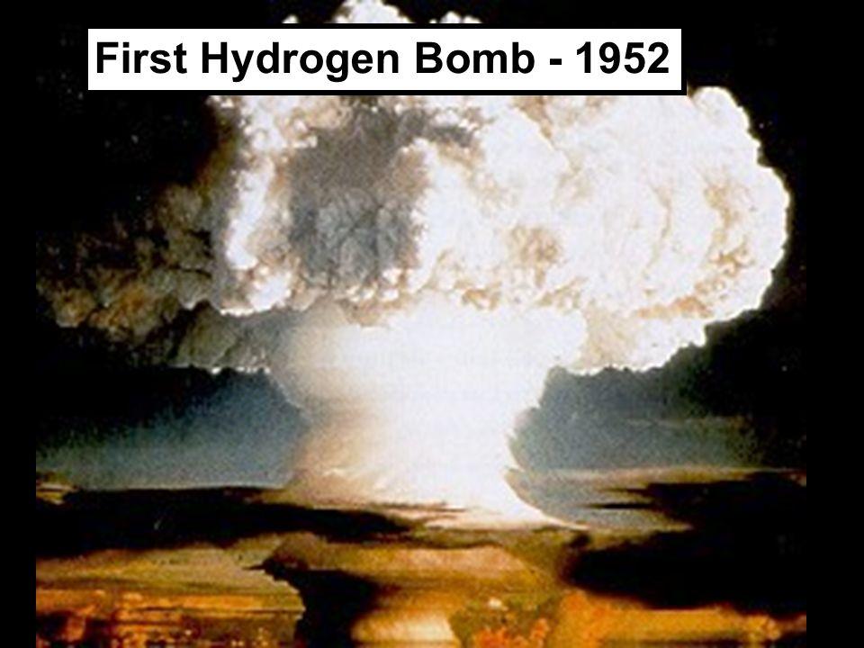 First Hydrogen Bomb - 1952