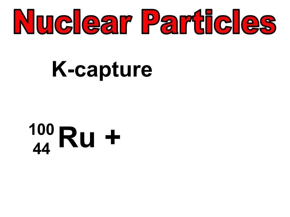 100 44 Ru + K-capture