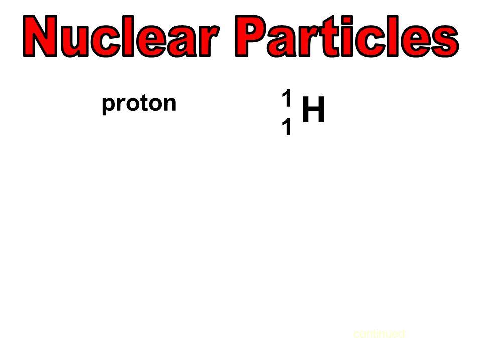 proton 1111 H continued