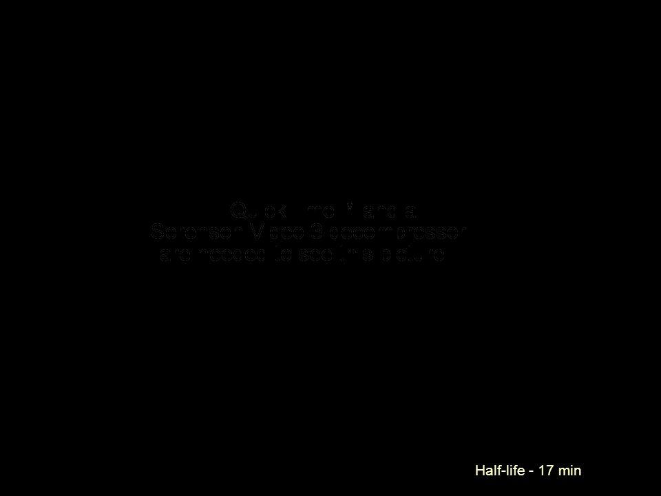 Half-life - 17 min