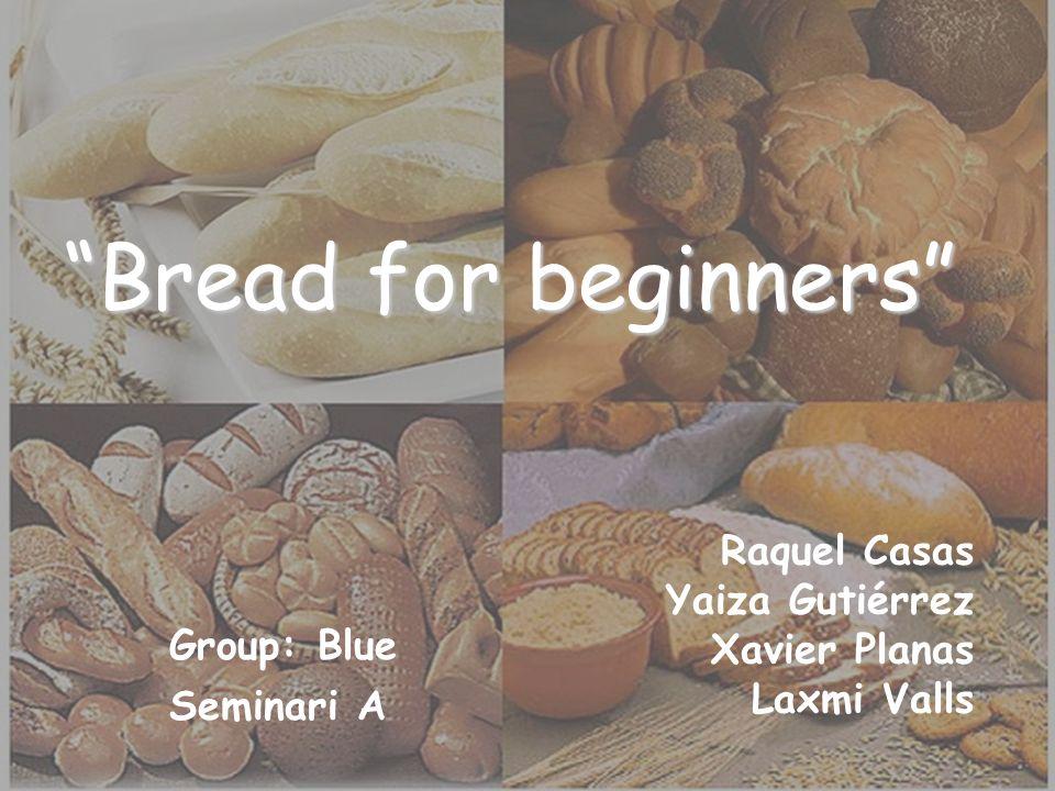 Bread for beginners Raquel Casas Yaiza Gutiérrez Xavier Planas Laxmi Valls Group: Blue Seminari A