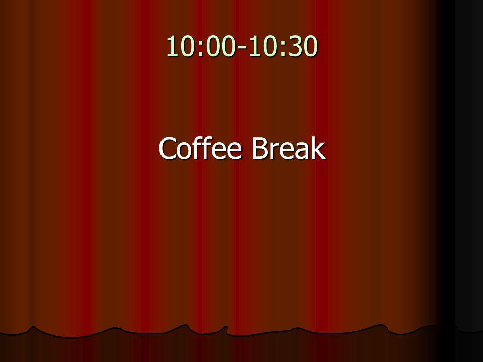 10:00-10:30 Coffee Break