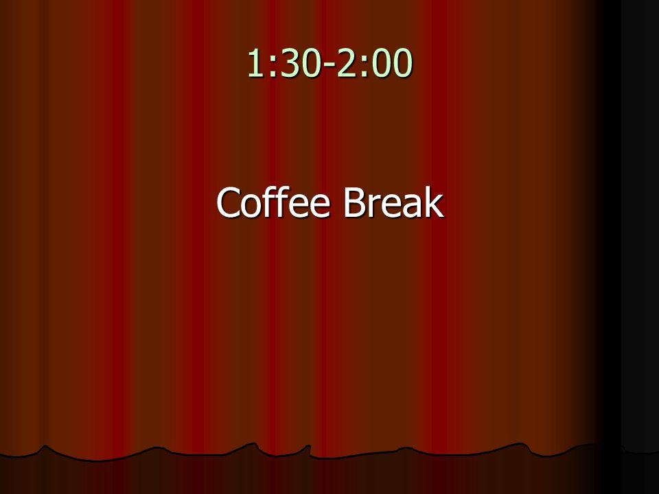1:30-2:00 Coffee Break
