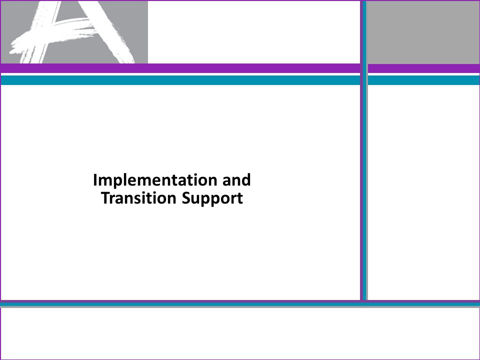 Implementation and Transition Support