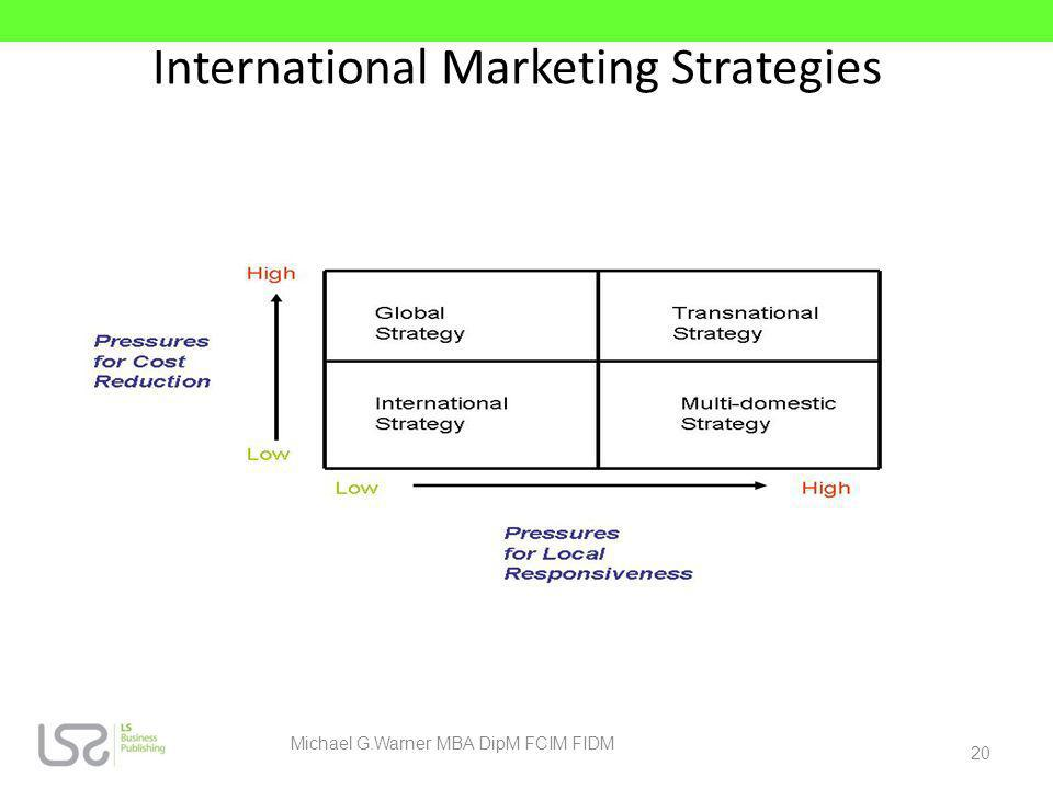 International Marketing Strategies 20 Michael G.Warner MBA DipM FCIM FIDM