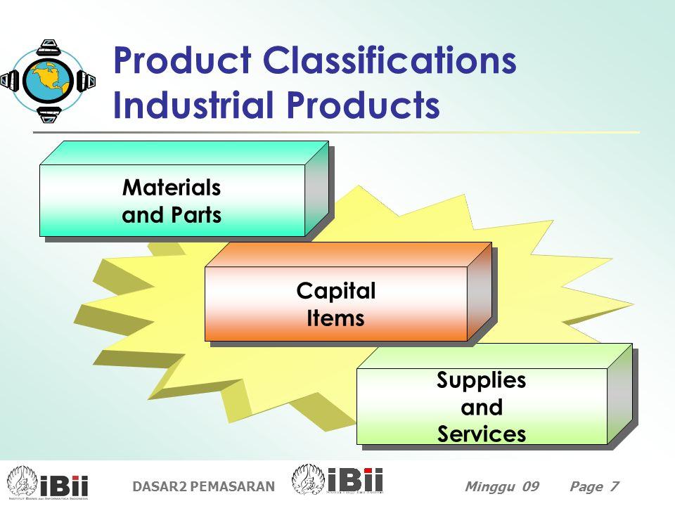 DASAR2 PEMASARANMinggu 09 Page 7 Supplies and Services Supplies and Services Materials and Parts Materials and Parts Capital Items Capital Items Produ