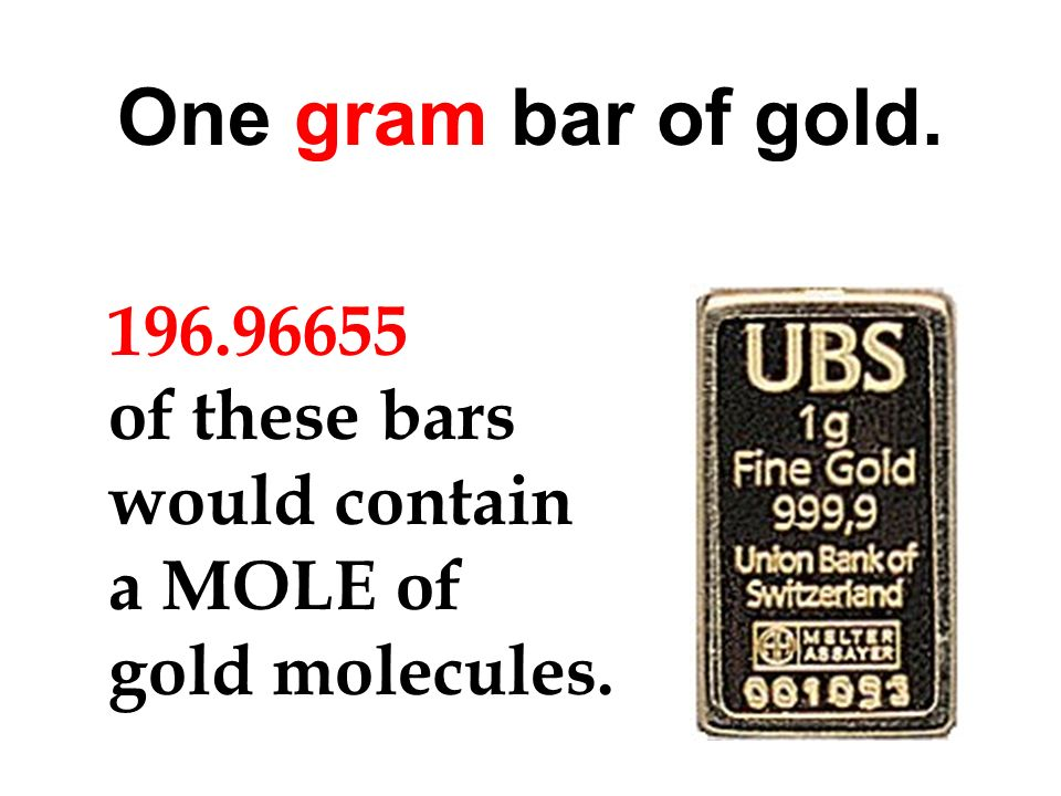 18 grams of water contains a mole of molecules. cm 3