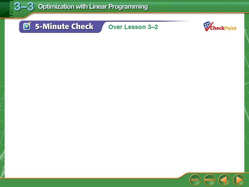 Over Lesson 3–2