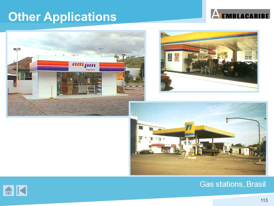 115 Gas stations, Brasil Other Applications