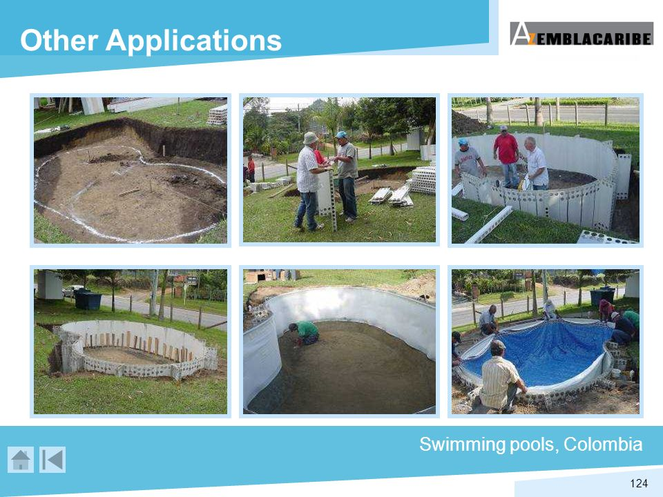 124 Swimming pools, Colombia Other Applications
