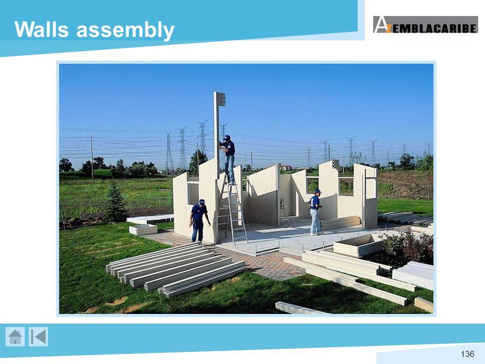 136 Walls assembly