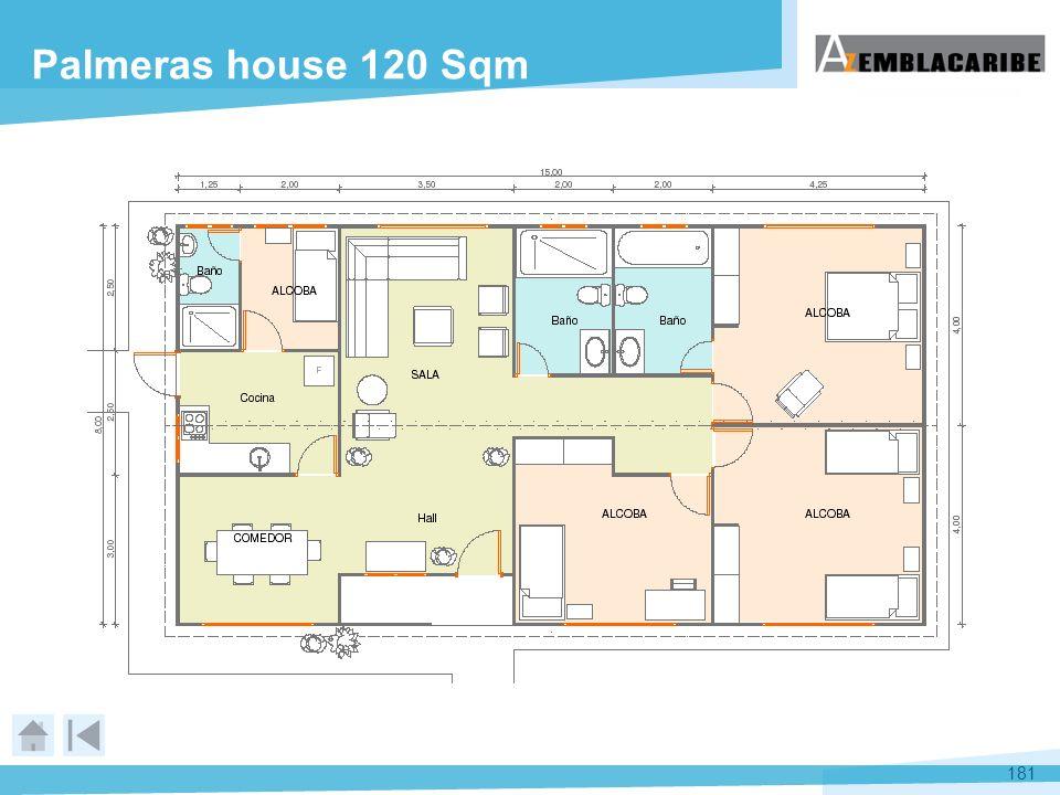181 Palmeras house 120 Sqm