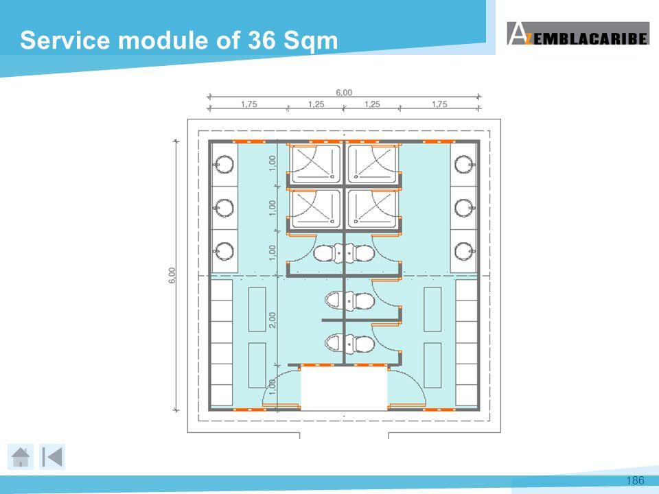 186 Service module of 36 Sqm