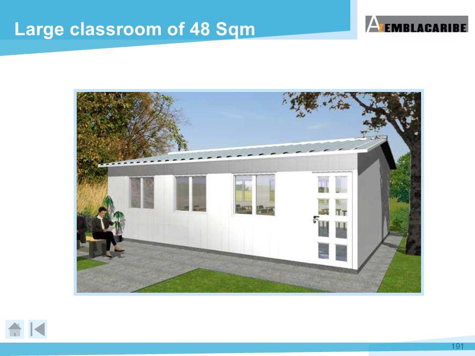 191 Large classroom of 48 Sqm