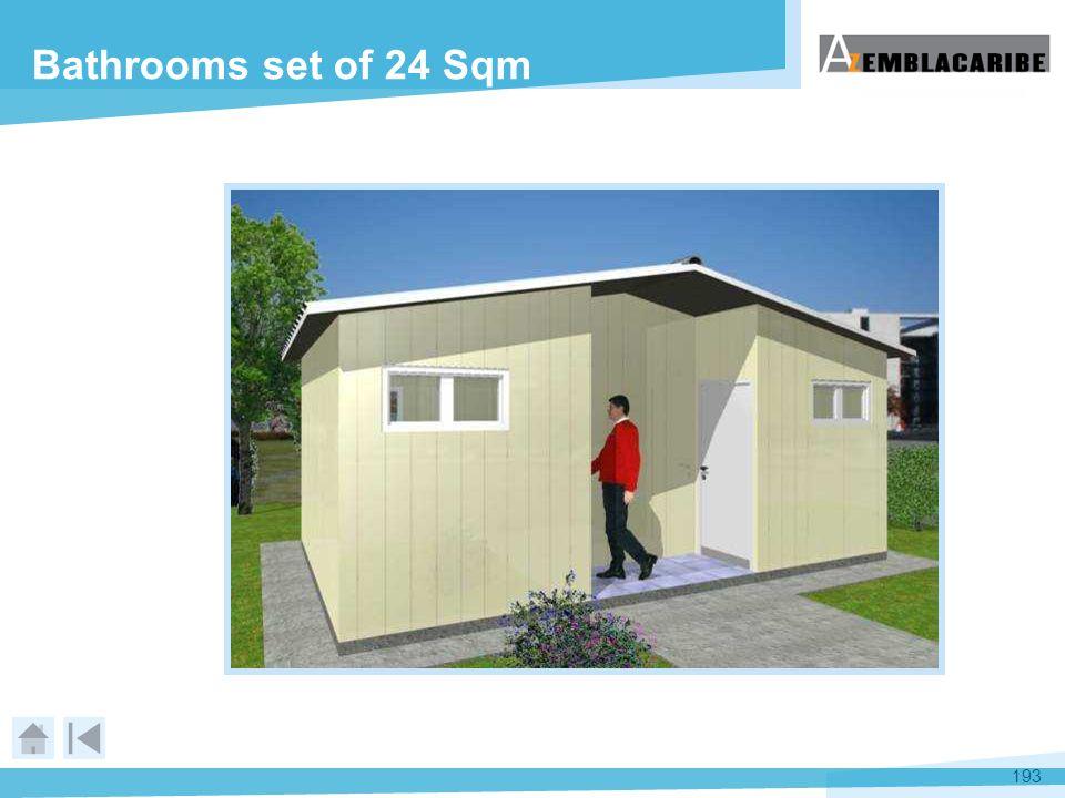 193 Bathrooms set of 24 Sqm