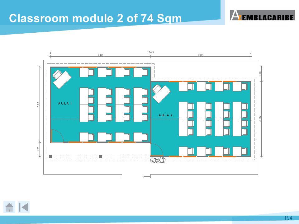194 Classroom module 2 of 74 Sqm