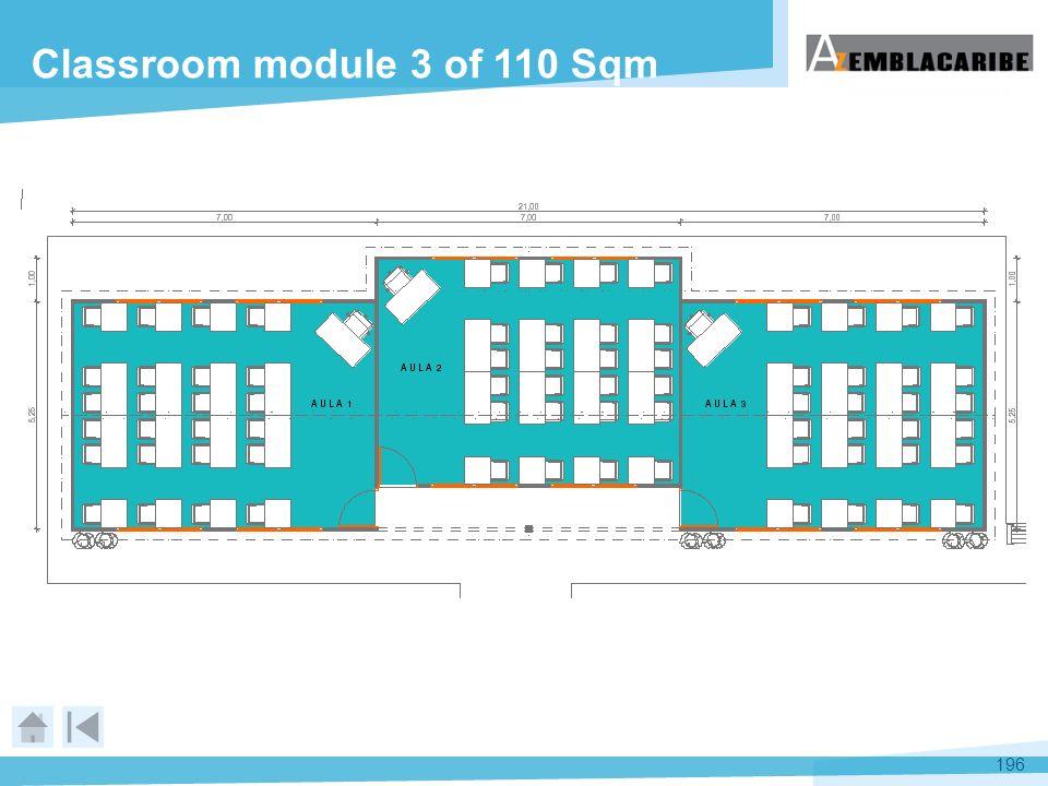 196 Classroom module 3 of 110 Sqm