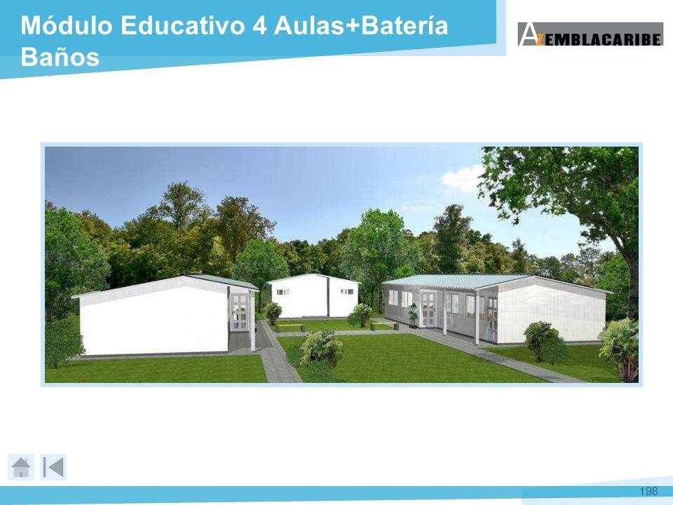 198 Módulo Educativo 4 Aulas+Batería Baños
