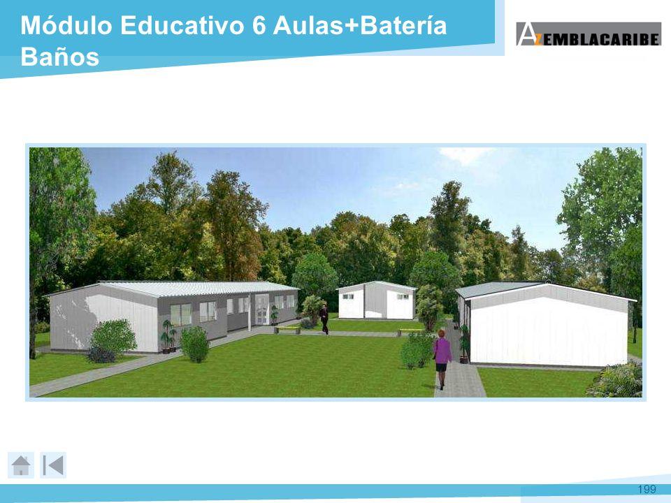 199 Módulo Educativo 6 Aulas+Batería Baños