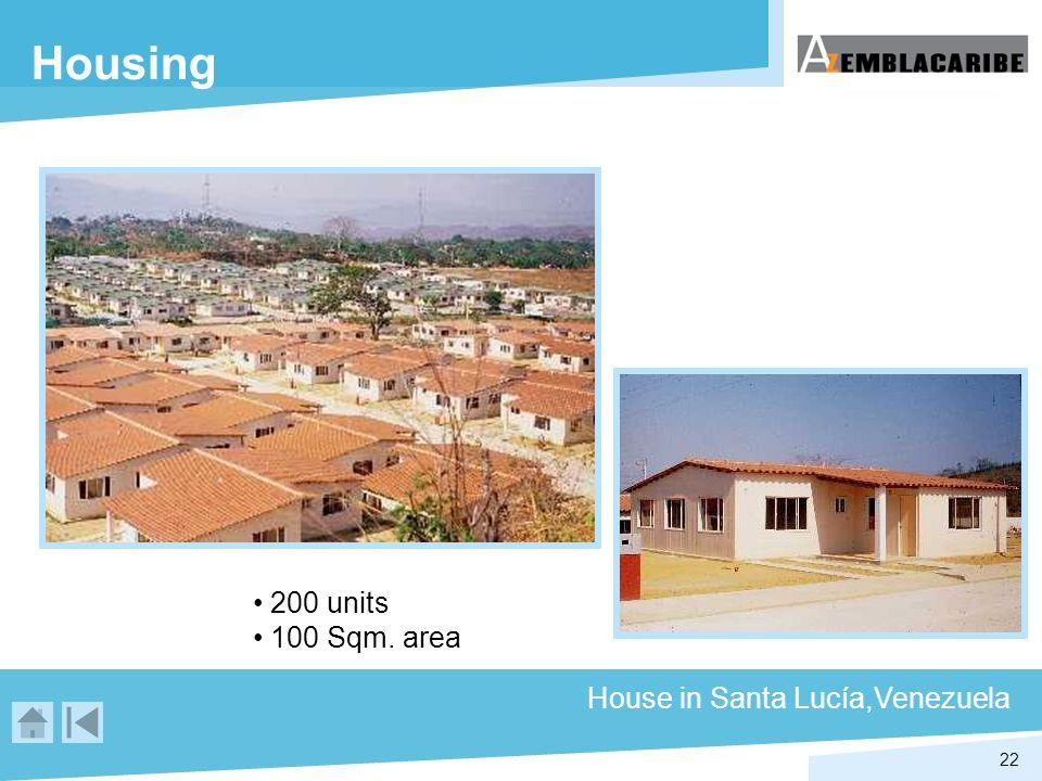 22 Housing House in Santa Lucía,Venezuela 200 units 100 Sqm. area
