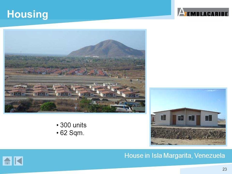 23 Housing House in Isla Margarita, Venezuela 300 units 62 Sqm.