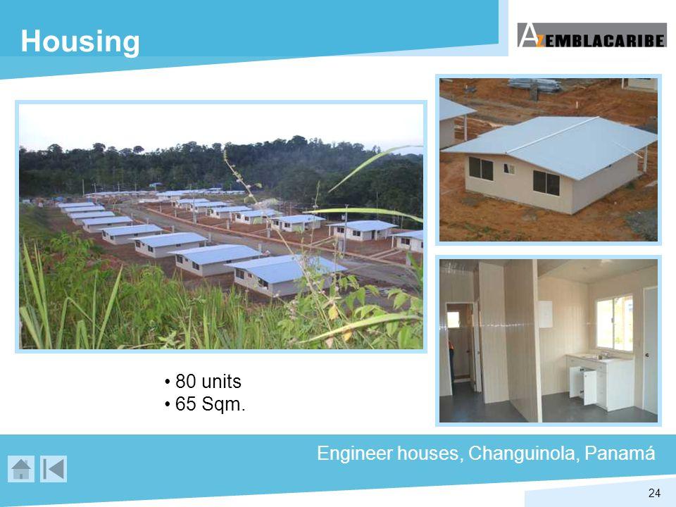 24 Housing 80 units 65 Sqm. Engineer houses, Changuinola, Panamá