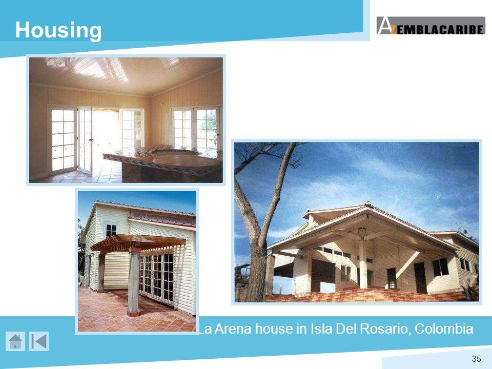35 Housing La Arena house in Isla Del Rosario, Colombia