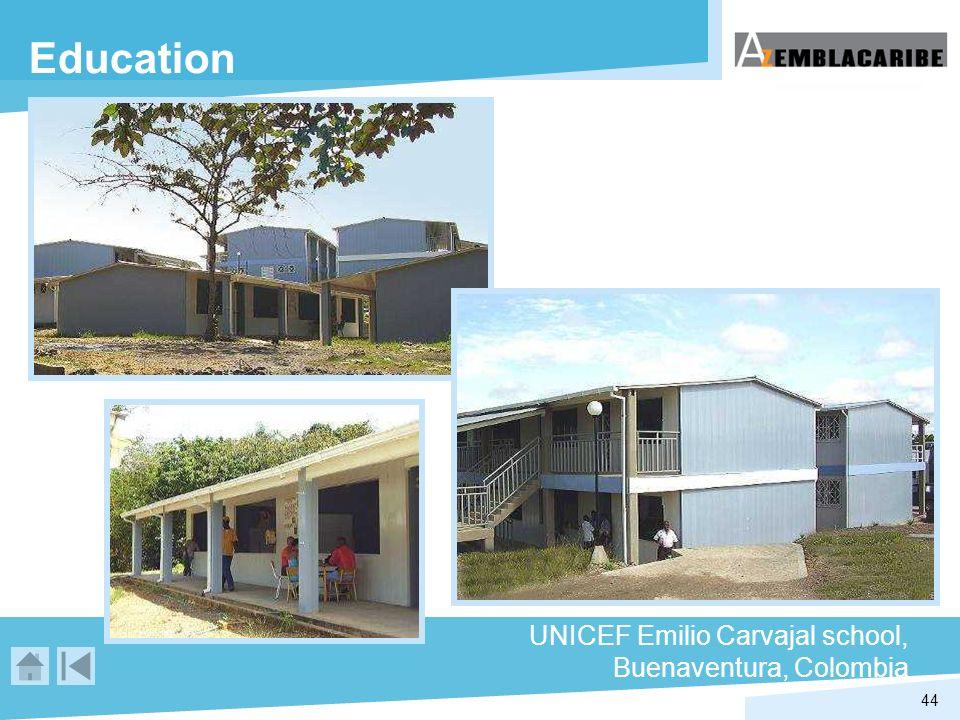 44 Education UNICEF Emilio Carvajal school, Buenaventura, Colombia