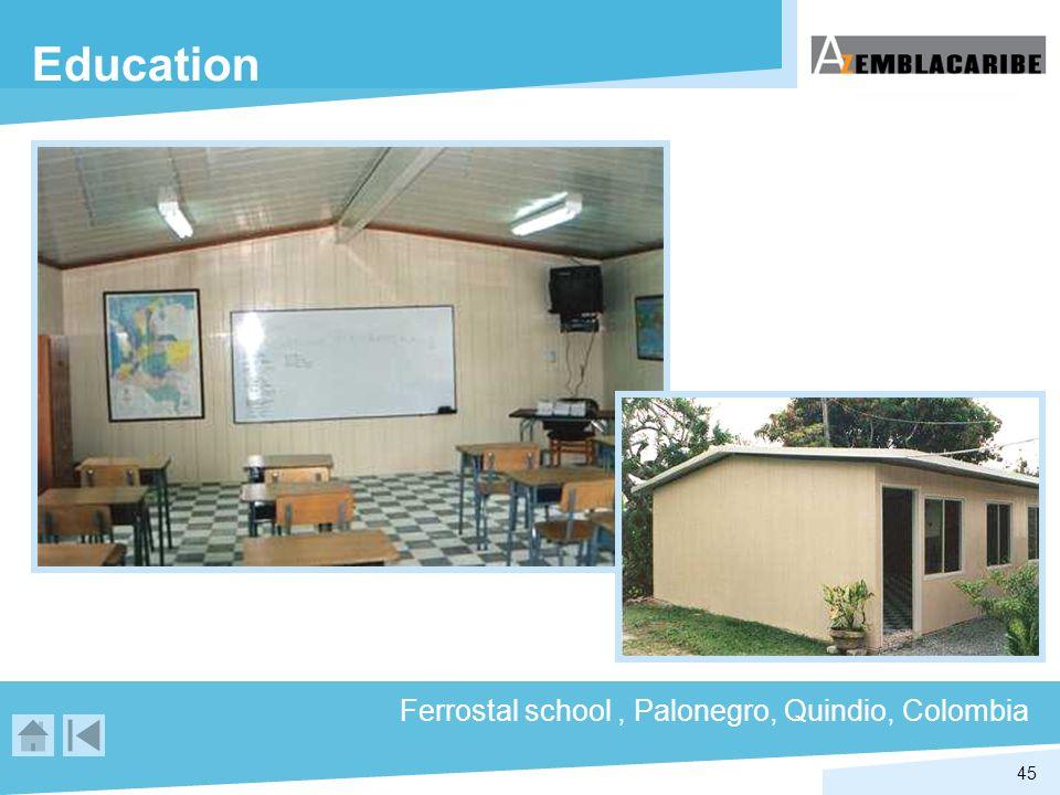 45 Education Ferrostal school, Palonegro, Quindio, Colombia