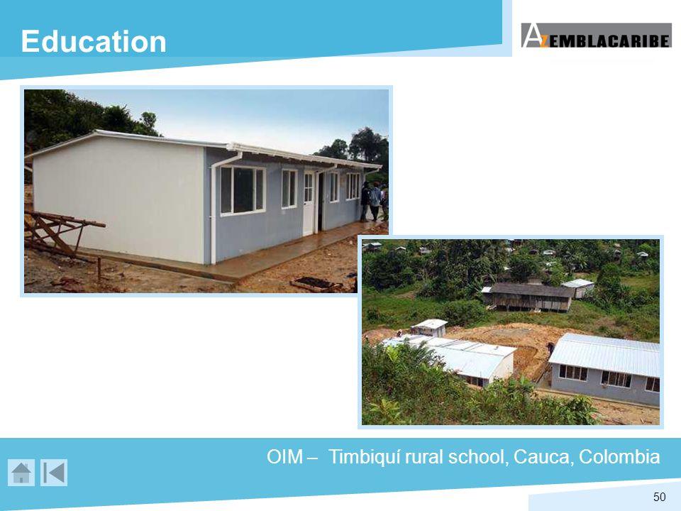 50 Education OIM – Timbiquí rural school, Cauca, Colombia