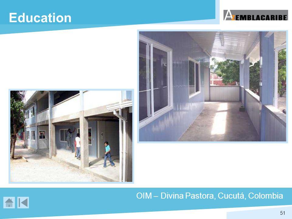 51 Education OIM – Divina Pastora, Cucutá, Colombia