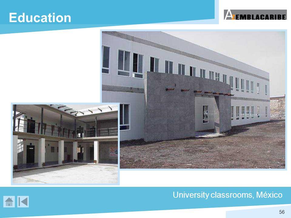 56 Education University classrooms, México