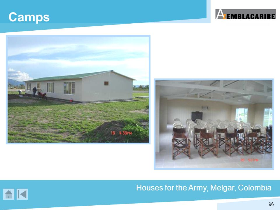 96 Camps Houses for the Army, Melgar, Colombia