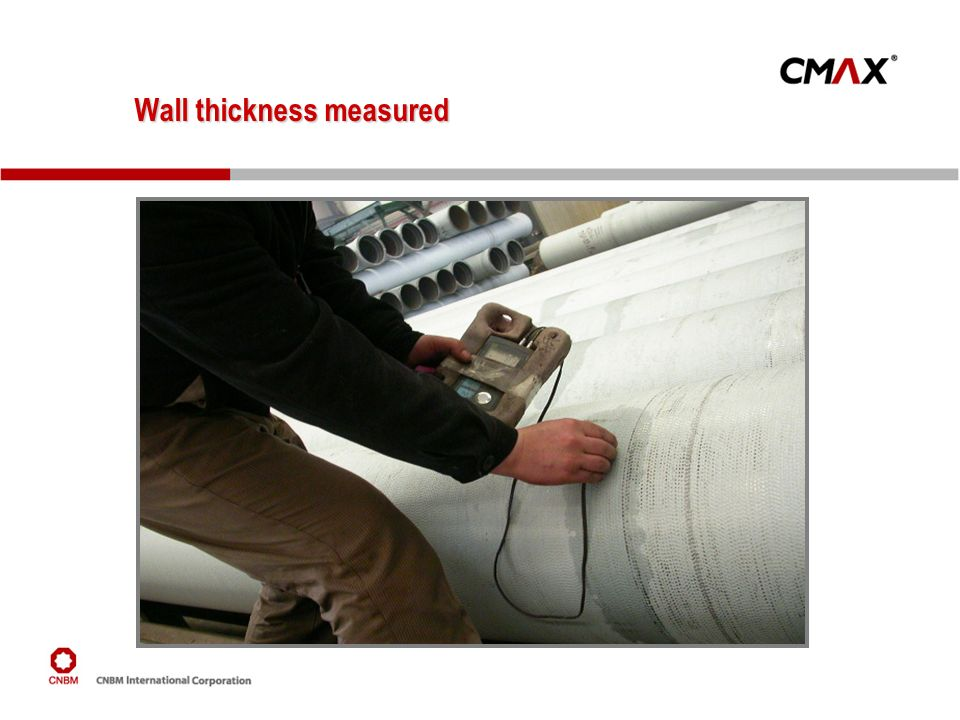 Wall thickness measured