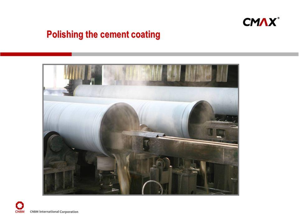 Polishing the cement coating