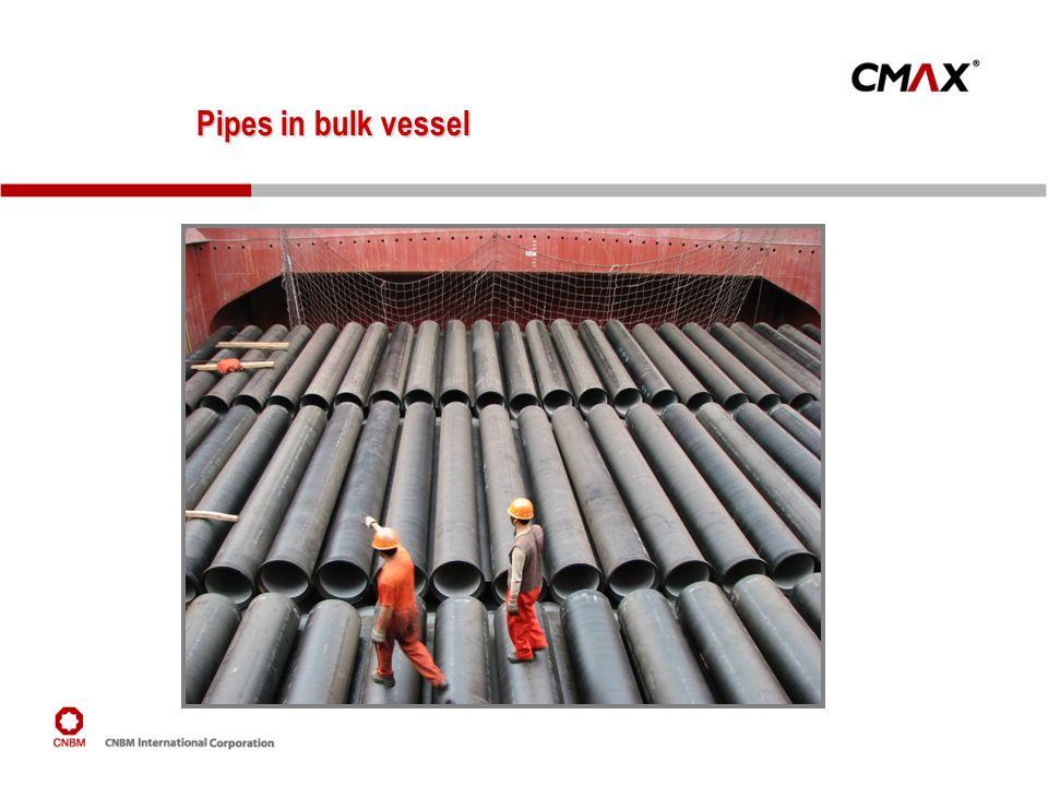 Pipes in bulk vessel