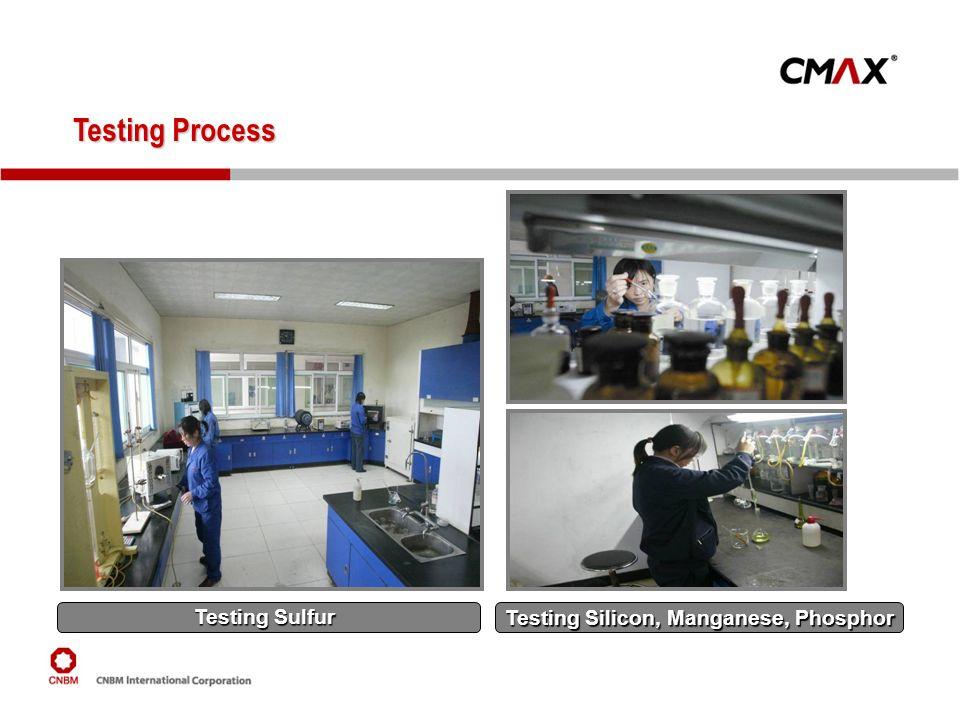 Testing Process Testing Process Testing Sulfur Testing Silicon, Manganese, Phosphor