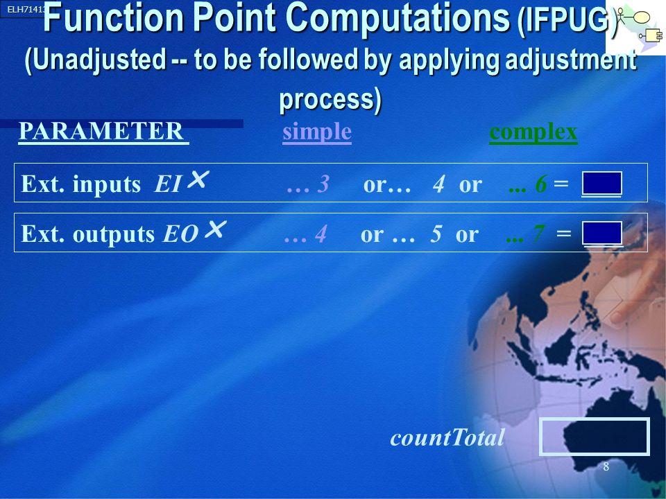 ELH71413 19 012345 FP Adjustment Factors for Video Example 1.
