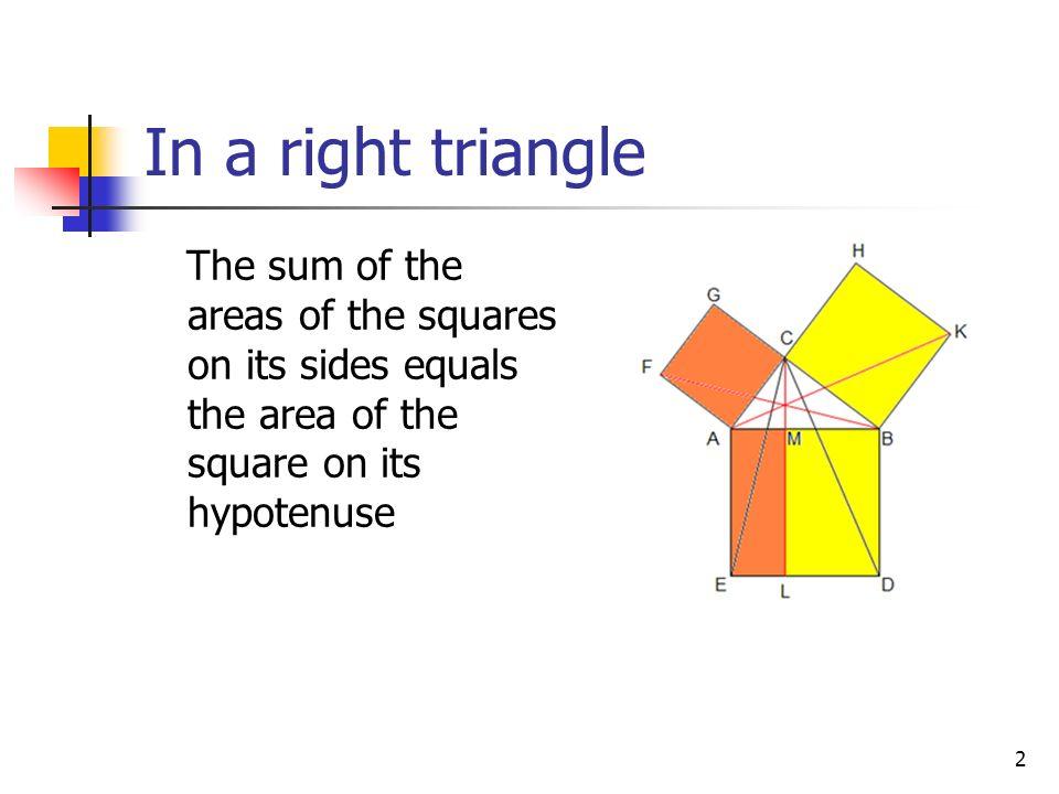 1 PythagoreanTheorem Statement