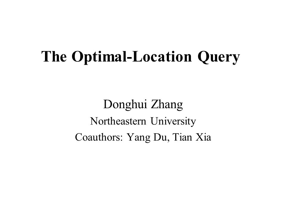 Motivation What is the optimal location in Boston area to build a new McDonalds store.
